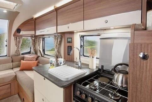 Interior of Bailey Caravan