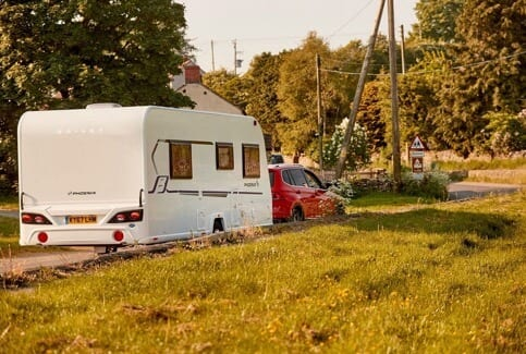 Caravan on holiday