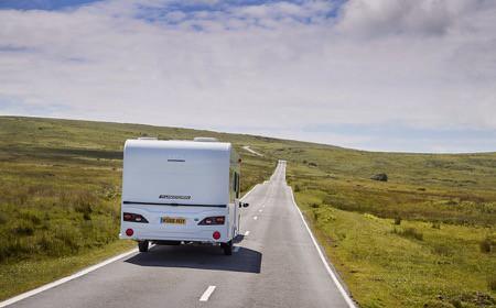 Bailey Caravan driving on the road
